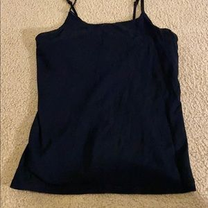 Black tank with double top fabric